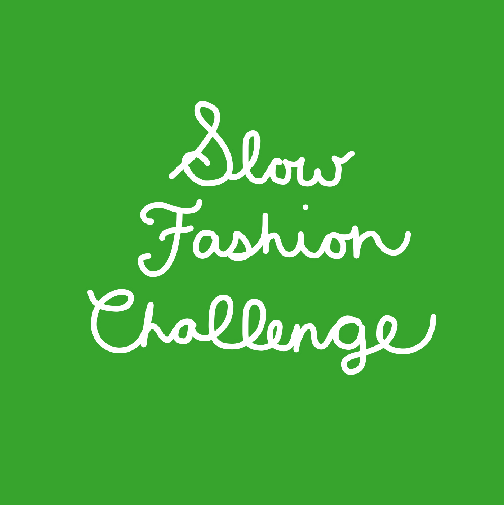 Slow Fashion Challenge Instagram title card