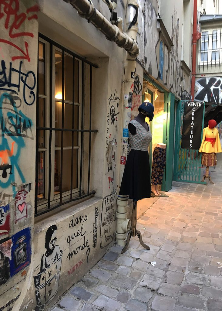 an alley in Le Marais of Paris