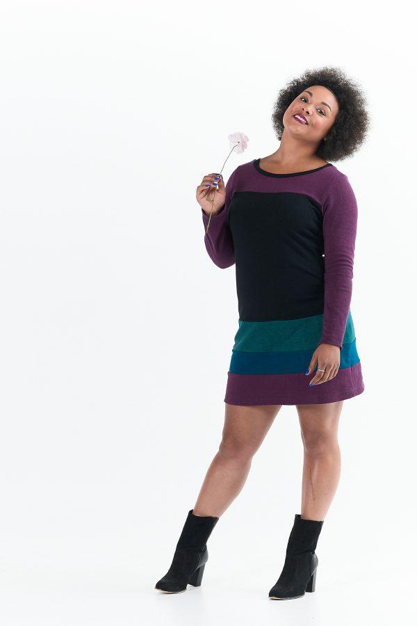Vivid Element | Long Sleeve Poppy Dress