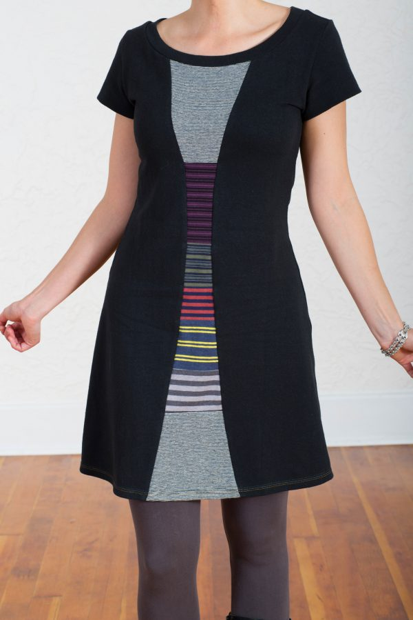Vivid Element | Time Travel dress Striped collage F