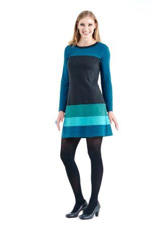 Long Sleeve Poppy Dress in River Blues
