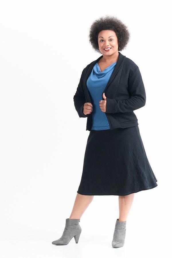 Vivid Element | Cactus skirt and Zero Waste jacket