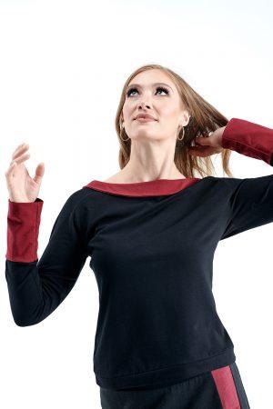 SALE Mercury Top, Black & Red size XL