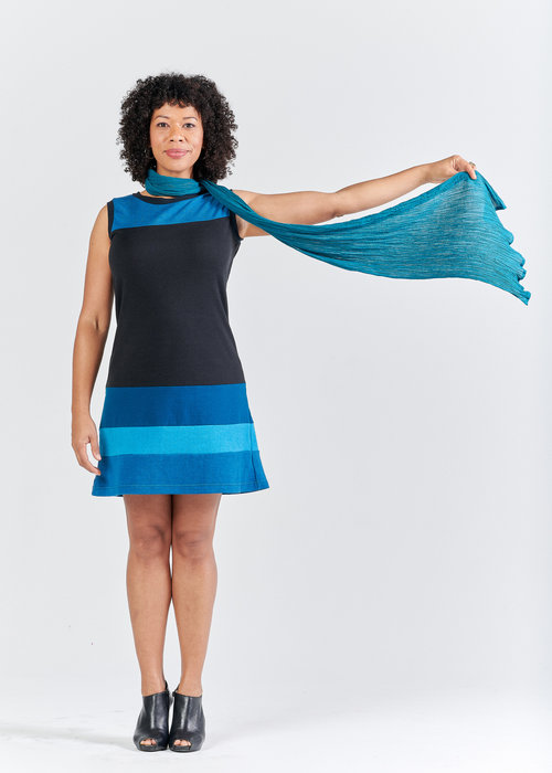 Vivid Element | Earthstar dress with blue Poppy dress