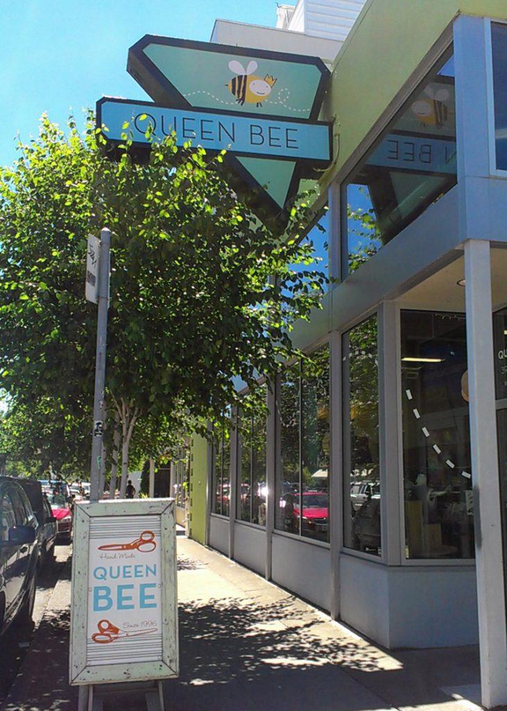 Queen Bee creations storefront | N Williams AVE Portland, Oregon
