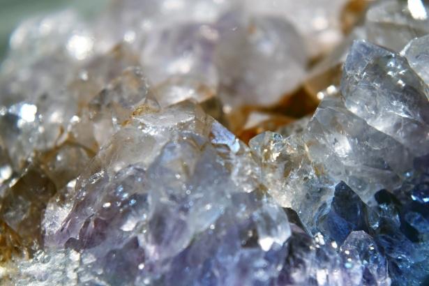 closeup of magic crystal