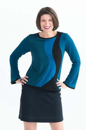 Ripple Top with Long Sleeves