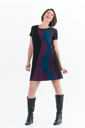 Solar Flare Dress in Berry