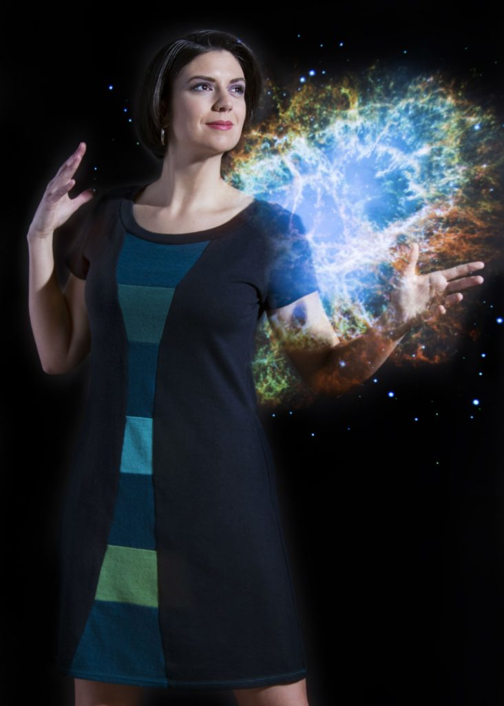 Vivid Element | time travel dress with NASA image