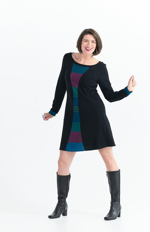 Vivid Element   Time Travel dress in berry A