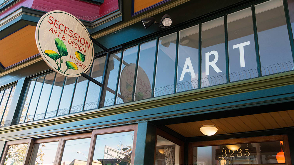 Secession Art and Design storefront