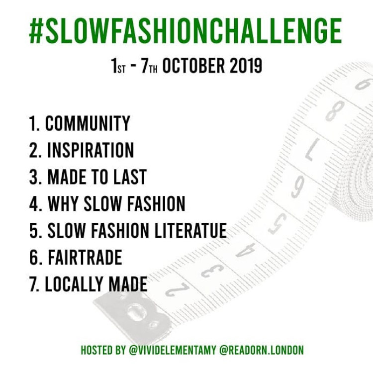 Slow Fashion Challenge 10/2019 prompts