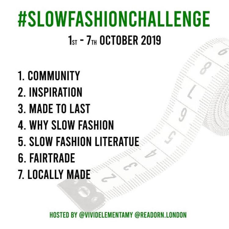 Slow Fashion Challenge 10/2019 prompts