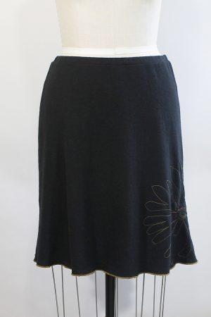 Obsidian Skirt with Flower, Medium