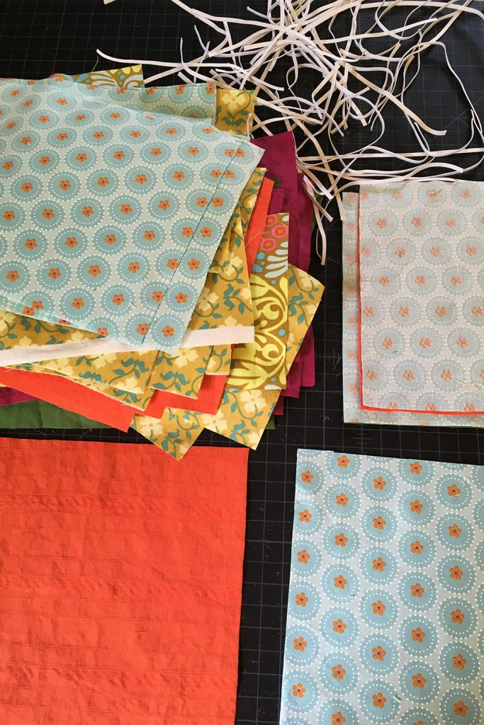 cut fabric and elastic for homemade masks