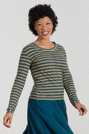 Jupiter Top in cheerful yellow stripes S,XL