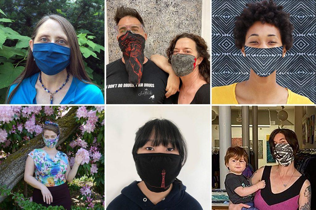 PNW designers in masks for Secession Art & Designs event