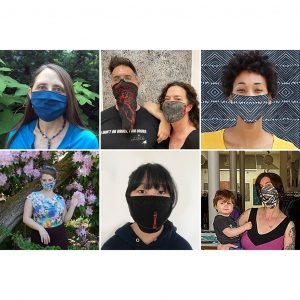 PNW designers in facemasks for Secession Art & Design