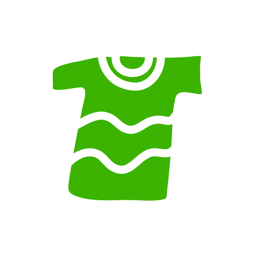 green tee shirt with waves
