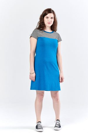 Sunstone Dress bright blue/stripes