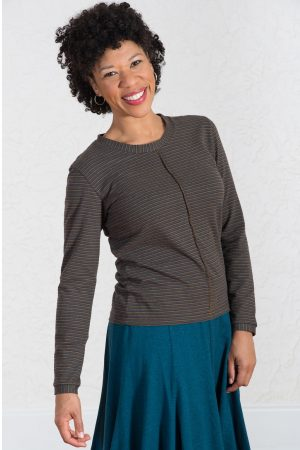 Jupiter Top in Jupiter Brown Stripes