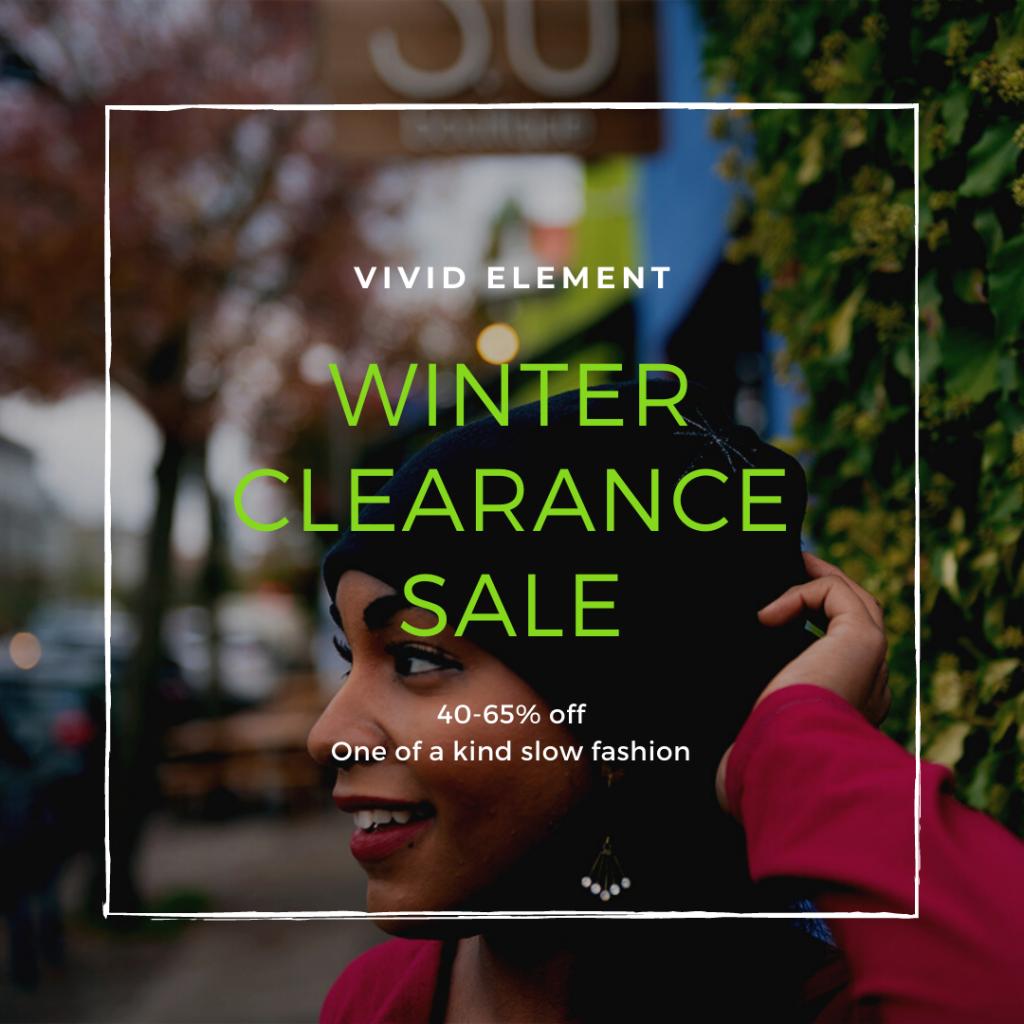 winter clearance sale, vivid element, january 27 - february 2, 2021