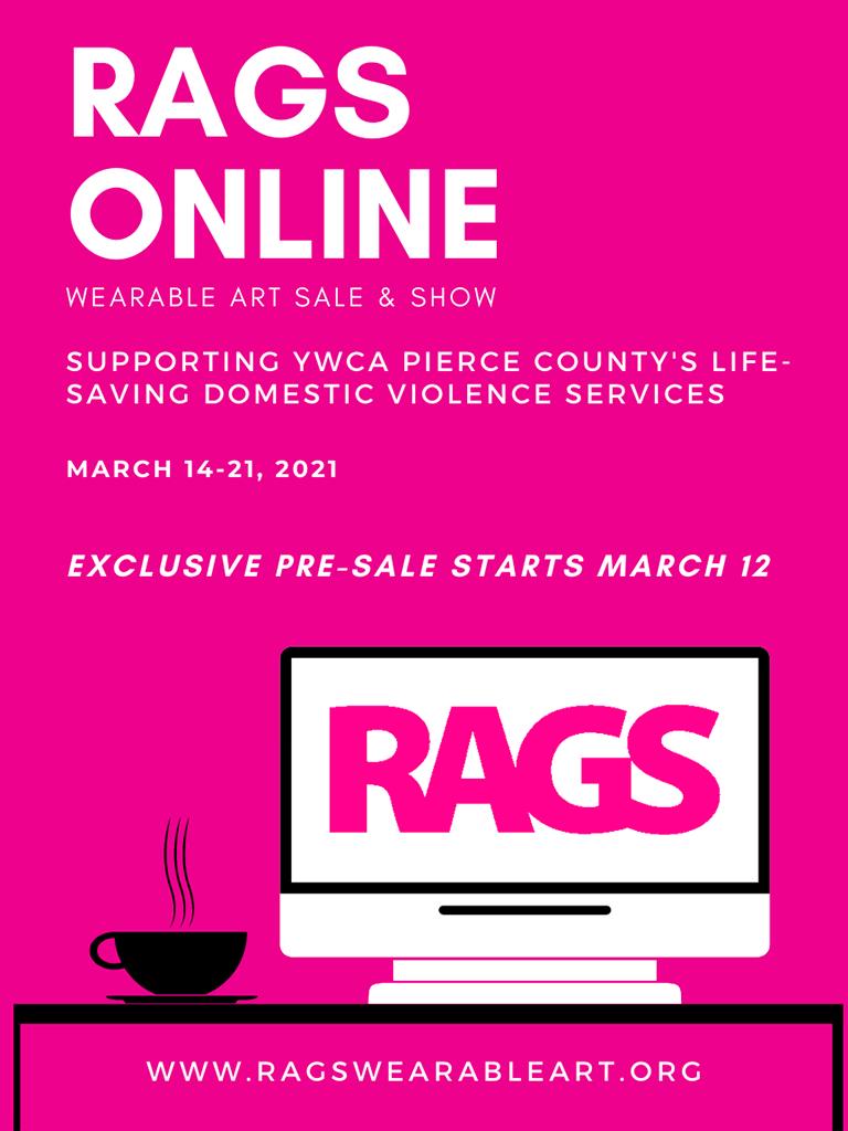 RAGS Online wearable art show March 14-21, 2021 go to www.ragswearableart.org