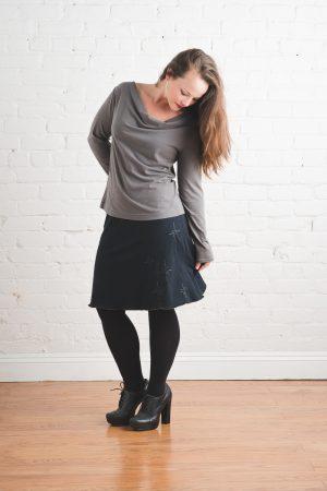 Obsidian Skirt with Stars, Medium